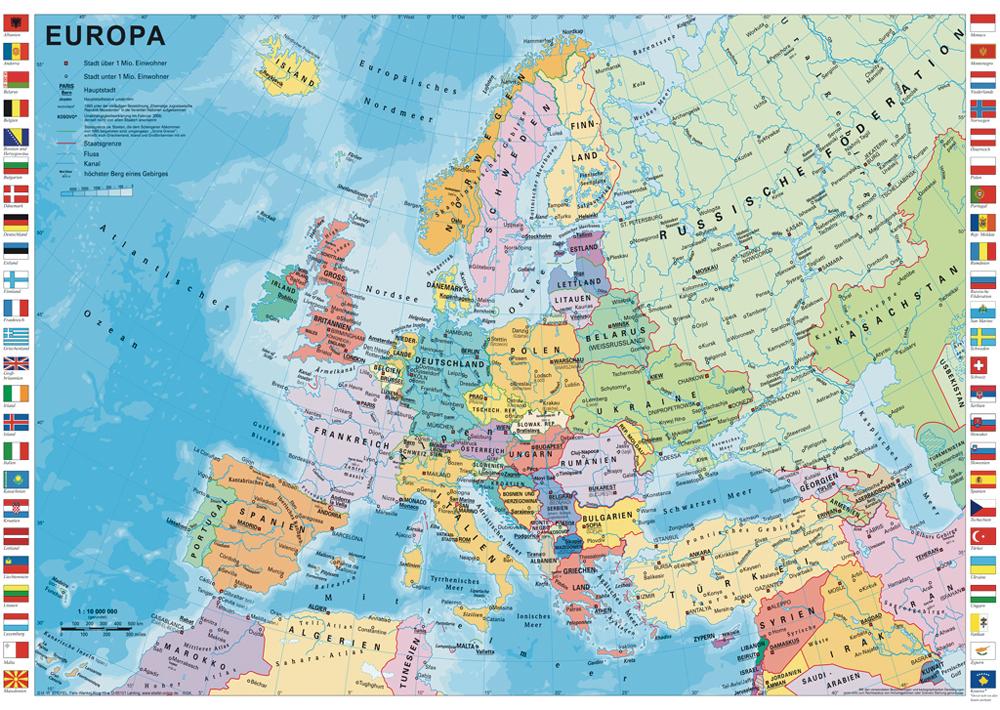 Politick mapa evropy schmidt puzzle 1000 for Mapa del mundo decoracion