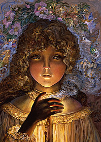 Josephine Wall - Dreaming by Candlelight
