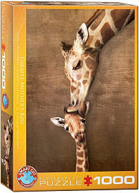 The mother Giraffe and its girafon