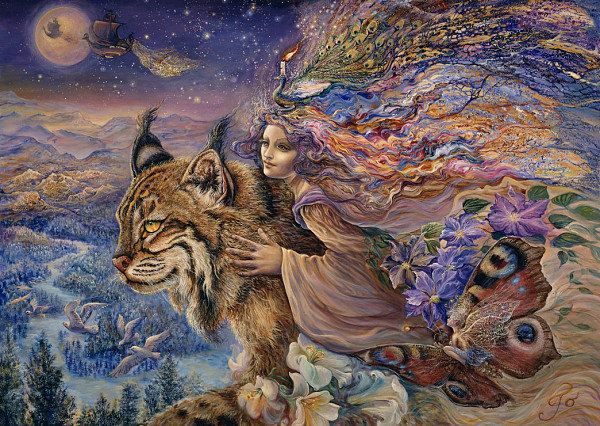 Josephine Wall - Flight of the Lynx